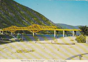Canada Lakeside Park Beach and Bridge Nelson British Columbia