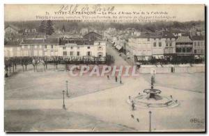Old Postcard Vitry Le Francois Place d & # 39Armes View From the cathedral