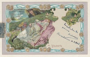 Art Nouveau Couple ; Artist SCHUBERT , PU-1902 ; #3