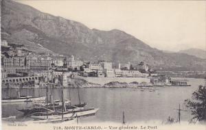 Monaco Monte Carlo Vue Generale Le Port