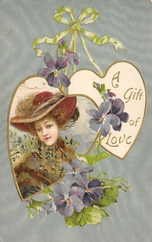 A gift of Love Postcard John Winsch Publisher 1908
