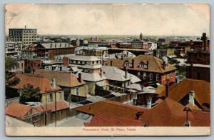 El Paso Texas~Birdseye Panorama~Downtown~Crawford's Theatre~Homes & Yards~1907