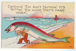 P917 fishing-catchin em aint nuthin, its hard gitting em home thats hard work