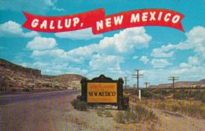 New Mexico Gallup Welcome Sign