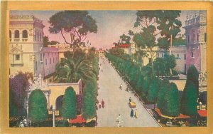 Arch Avenue of Palaces 1935 Postcard Exposition San Diego California 20-10582