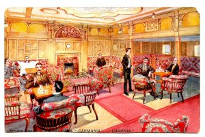 Cunard Line - RMS Carmania-Caronia, Smoke Room