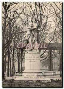 Old Postcard Luxembourg Paris Statue of Leconte de Lisle