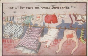 AS; REZ MAURICE, 1920; Just a Line from the Whole Damn Family, Clothesline