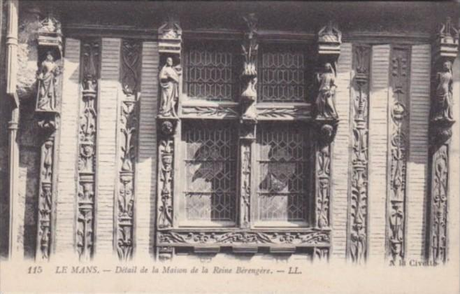 France La Mans Detail de la Maison de la Reine Berengere