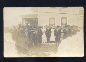 RPPC DOWNS KANSAS WINTER SNOW COLBS WEDDING VINTAGE REAL PHOTO POSTCARD