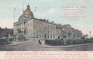 BOSTON , Massachusetts, 1906 ; State House and General Hooker Statue