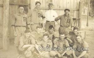 Base Ball Baseball Real Photo Postcards Post Card