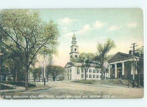Divided-back CHURCH SCENE Dorchester - Boston Massachusetts MA AD2051