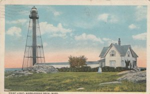 MARBLEHEAD NECK , Massachusetts ,1920 ; Point LIGHTHOUSE