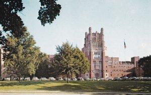 IOWA CITY , Iowa, 1950-60s ; University General Hospital, Classic cars