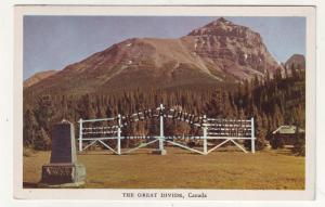 P294 JL old postcard alberta & br columbia the great divide