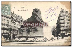 Old Postcard Paris Lion of Belfort