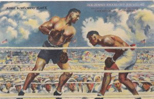 New York City Jack Dempsey Restaurant Boxing Mural sk3713