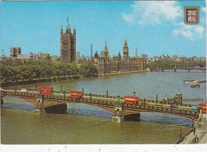 England London Houses Of Parliament and Lambeth Bridge 1984