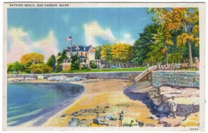 Bar Harbor, Maine, Bathing Beach