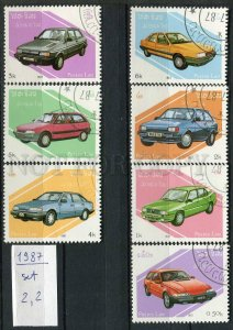 266005 LAOS 1987 year used stamps set CARS