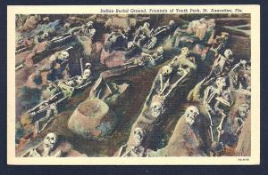 Indian Burial Ground St Augustine Florida unused c1937
