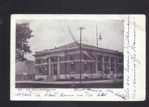 HUTCHINSON KANSAS POST OFFICE BUILDING DOWNTOWN ANTIQUE VINTAGE POSTCARD