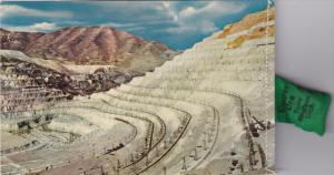 Bingham Copper Pit , Utah , 50-60s ; Attached bag of copper ore
