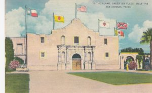 SAN ANTONIO , Texas, 1930-40s ; Under Six Flags, Showing The Alamo