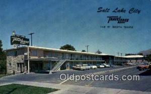 Salt Lake City Travelodge, Salt Lake, USA Motel Hotel Postcard Post Card Old ...