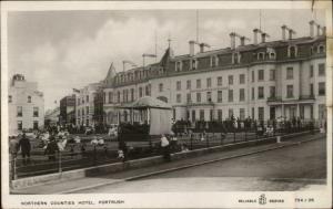 Portrush Ireland Northern Counties Hotel c1910 Real Photo Postcard