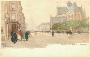 Artist Signed - H.CASSIERS Bruxelles Rue de la Régence 01.81