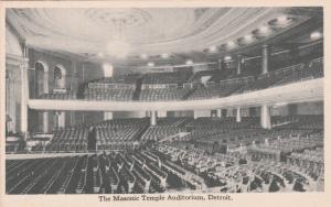 DETROIT, Michigan, 00-10s ; Auditorium , New Masonic Temple