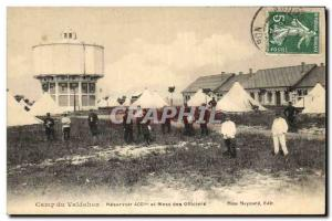 Postcard Old Chateau d & # 39eau Camp Valdahon Reservoir and Army Officers' Mess