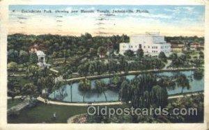 Jacksonville, Florida, USA Mason, Mason's Fraternal Organization 1928 light c...