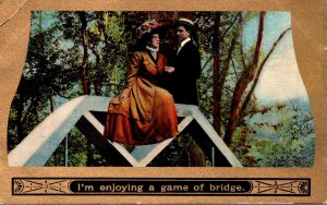Romantic Couple I'm Enjoying A Game Of Bridge