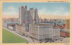 New York City Brooklyn Hotel St George 1944 Curteich