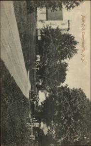Thompsonville NY Near PO Road Car c1910 Postcard