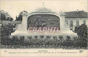 Postcard Old Chartres high Monument in Memory of Pastor Experiences