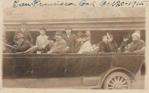 RP: SAN FRANCISCO, CA, 1915 ; Tour Bus