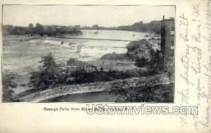 Oswego Falls Fulton NY Writing On Back