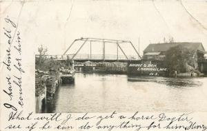Embarrass Wisconsin~Bridge & Dam~Your Colt Will Die~Done All I Can~1908 RPPC