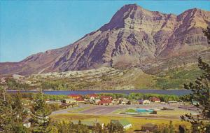 Canada Waterton Lake Townsite and Mount Vimy Alberta