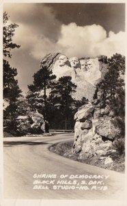 South Dakota Mount Rushmore Shrine Of Democracy 1946 Real Photo