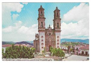 Mexico Taxco Santa Prisca Church Vintage Enrique Puente Photo Postcard