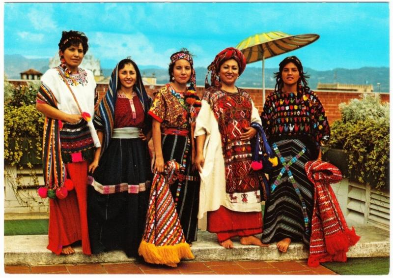 Guatemala Indian Women in Traditional Costumes 1970s Postcard