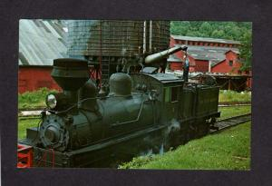 WV Cass Scenic Railway Railroad Train Engine Locomotive West Virginia Postcard