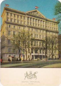 Austria Wien Vienna Hotel Imperial 1965
