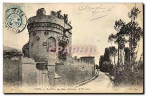 Old Postcard Caen La Tour des Gens d & # 39Armes