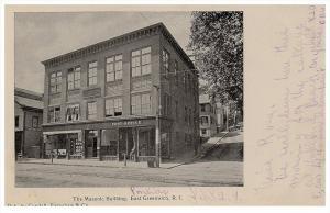 Rhode island  East Greenwich ,   Post  Office in Masonic Building , PMC